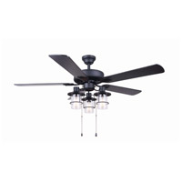 Catena 52 inch Matte Black Indoor Ceiling Fan
