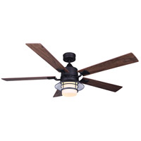 Canarm CF52DAL5BK Dallas 52 inch Black with Weathered Chestnut/Rustic Maple Blades Indoor Ceiling Fan