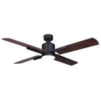Canarm CF52LOX4BK Loxley 52 inch Black with Rustic Maple Blades Indoor Ceiling Fan