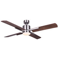 Canarm CF52LOX4BN Loxley 52 inch Brushed Nickel with Weathered Chestnut Blades Indoor Ceiling Fan