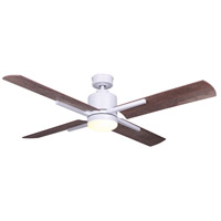 Canarm CF52LOX4WH Loxley 52 inch White with Weathered Oak Blades Indoor Ceiling Fan