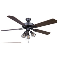 Otto 52 inch Graphite with Silver Oak/Walnut Blades Ceiling Fan, Dual Mount