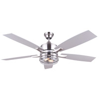 Renda 52 inch Brushed Nickel Indoor Ceiling Fan