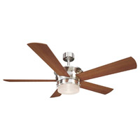 Capital 52 inch Brushed Nickel with Maple Blades Ceiling Fan, Downrod Mount