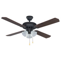 Chatea II 52 inch Oil Rubbed Bronze Indoor Ceiling Fan, Dual Mount