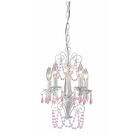 Canarm ICH171B05WH Danica 5 Light 12 inch White Chandelier Ceiling Light