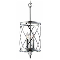 Vanessa 3 Light 10 inch Chrome Chandelier Ceiling Light