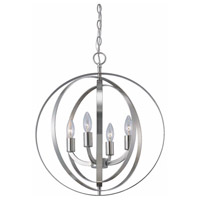 Meridian 4 Light 18 inch Brushed Nickel Chandelier Ceiling Light