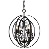 Canarm ICH232B04ORB18 Jordan 4 Light 18 inch Oil Rubbed Bronze Chandelier Ceiling Light