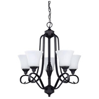 Canarm ICH256A05ORB New Yorker 5 Light 21 inch Oil Rubbed Bronze Chandelier Ceiling Light