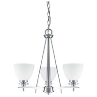 New Yorker 3 Light 19 inch Brushed Pewter Chandelier Ceiling Light