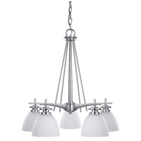 Canarm ICH256A05BPT New Yorker 5 Light 21 inch Brushed Pewter Chandelier Ceiling Light