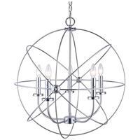 Canarm ICH282B05CH25 Sumerside 5 Light 25 inch Chrome Chandelier Ceiling Light