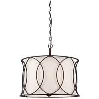 Canarm ICH320A03ORB20 Monica 3 Light 3 inch Oil Rubbed Bronze Chandelier Ceiling Light