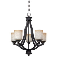 Canarm ICH375A05RA Warren 5 Light 22 inch Rubbed Antique Bronze Chandelier Ceiling Light