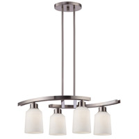 Canarm ICH431A04BN Quincy 4 Light 25 inch Brushed Nickel Chandelier Ceiling Light