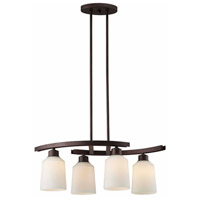 Canarm ICH431A04ORB Quincy 4 Light 25 inch Oil Rubbed Bronze Chandelier Ceiling Light