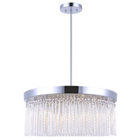 Canarm ICH454A06CH22 Monaco 6 Light 22 inch Chrome Chandelier Ceiling Light