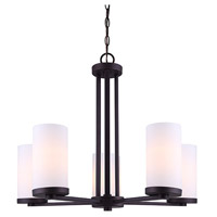 River 5 Light 24 inch Oil Rubbed Bronze Chandelier Ceiling Light