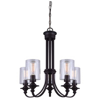 York 5 Light 25 inch Oil Rubbed Bronze Chandelier Ceiling Light