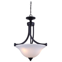 Rue 3 Light 17 inch Rubbed Antique Bronze Chandelier Ceiling Light
