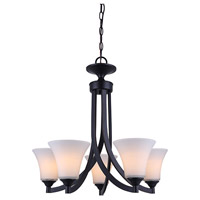 Rue 5 Light 25 inch Rubbed Antique Bronze Chandelier Ceiling Light