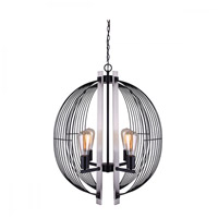 Canarm ICH708A04BKN Memphis 4 Light 22 inch Black and Brushed Nickel Chandelier Ceiling Light in Matte Black and Brushed Nickel