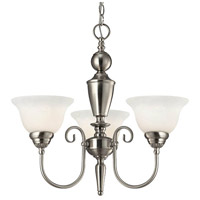 Julianna 3 Light 3 inch Brushed Nickel Chandelier Ceiling Light