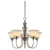 Julianna 5 Light 23 inch Brushed Nickel Chandelier Ceiling Light