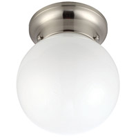 Signature 1 Light 6 inch Brushed Nickel Semi-Flushmount Ceiling Light