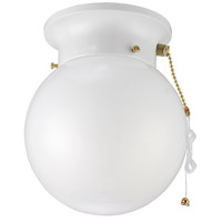 Signature 1 Light 6 inch White Semi-Flushmount Ceiling Light