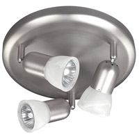 James 3 Light Brushed Pewter Track Light Ceiling Light