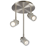 Cole 3 Light Brushed Nickel Track Light Ceiling Light