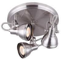Canarm ICW622A03BN10 Polo 3 Light Brushed Nickel Track Light Ceiling Light