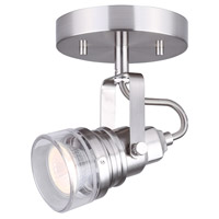 Brock 1 Light Brushed Nickel Track Light Ceiling Light