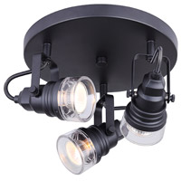 Brock 3 Light Black Track Light Ceiling Light