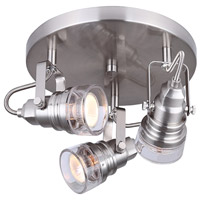 Brock 3 Light Brushed Nickel Track Light Ceiling Light