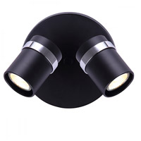 Canarm ICW760A02BKC10 Adelaide 2 Light 7 inch Matte Black and Chrome Ceiling/Wall Light Ceiling Light