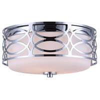 Drake 2 Light 12 inch Chrome Flushmount Ceiling Light
