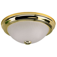 Signature 3 Light 11 inch Polished Brass Flushmount Ceiling Light