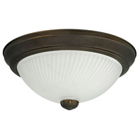 Signature 2 Light 11 inch Oil Rubbed Bronze Flushmount Ceiling Light