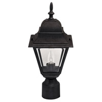 Signature 1 Light 17 inch Black Outdoor Post Light