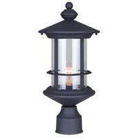 Treehouse 1 Light 17 inch Black Outdoor Post Light