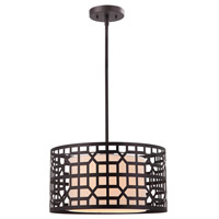 Kuan 1 Light 16 inch Oil Rubbed Bronze Pendant Ceiling Light