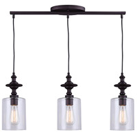 York 3 Light 27 inch Oil Rubbed Bronze Pendant Ceiling Light