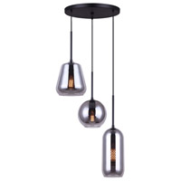 Canarm IPL650B03BK Daffin 3 Light 19 inch Black Pendant Ceiling Light