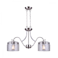Canarm IPL707A02BN Arden 2 Light 32 inch Brushed Nickel Pendant Ceiling Light