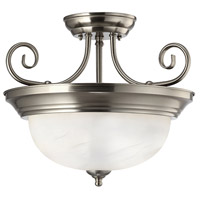 Julianna 2 Light 14 inch Brushed Nickel Semi-Flushmount Ceiling Light
