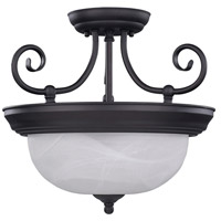 Julianna 2 Light 14 inch Oil Rubbed Bronze Semi-Flushmount Ceiling Light