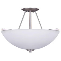 New Yorker 3 Light 15 inch Brushed Pewter Semi-Flushmount Ceiling Light